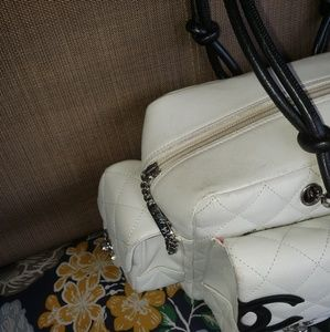 CHANEL Bags - Chanel Reporter Cambon Large White Quilted Bag